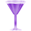 purple, wineglass Black icon