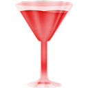 wineglass, red Black icon