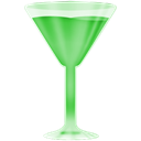 green, wineglass Black icon