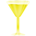 wineglass, yellow Black icon