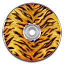 disc, Tiger, save, Disk, Animal Icon