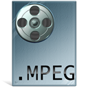 Mpeg, mpg, video LightSlateGray icon