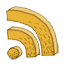 subscribe, Rss, feed Goldenrod icon