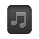 music Black icon
