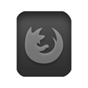 Firefox, Browser, html Black icon