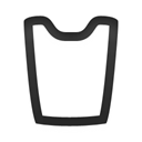 recycle, Empty, Blank Black icon