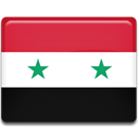 Syria, flag, Country Crimson icon