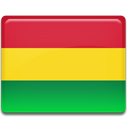 Bolivia, flag, Country Gold icon