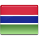 Gambia, flag, Country Crimson icon