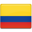 flag, Colombia, Country Gold icon
