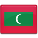 Country, flag, Maldives Crimson icon