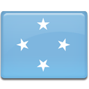 Country, Micronesia, flag SkyBlue icon