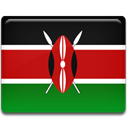 flag, kenya, Country Firebrick icon