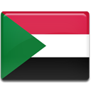 flag, Sudan, Country Crimson icon