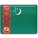 Country, turkmenistan, flag SeaGreen icon