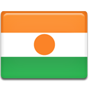 Country, flag, Niger Coral icon