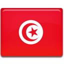 Country, flag, Tunisia Crimson icon
