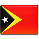 timor, flag, Leste, Country Red icon