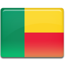 Country, flag, Benin SeaGreen icon