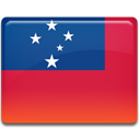 Country, samoa, flag Crimson icon