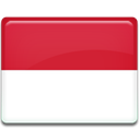 Country, Indonesia, flag Crimson icon