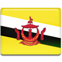 flag, Brunei, Country Gold icon