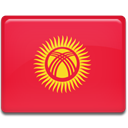 Country, flag, Kyrgyzstan Crimson icon