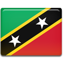 Country, saint, And, nevis, flag, kitts Crimson icon