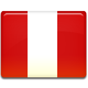 flag, Peru, Country Firebrick icon