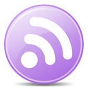 subscribe, feed, lilac, Rss Plum icon