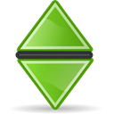 Neutral, sort, green Black icon