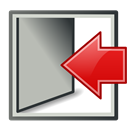 Log, out Silver icon