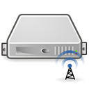 radius, Server Black icon