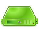 Server, green YellowGreen icon