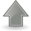 Up, upload, up grey, increase, rise, Ascending, Ascend, grey Black icon