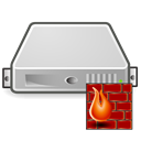 Server, Firewall Black icon