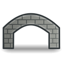 Stone, bridge Black icon