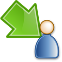Move, participant, waiting, green Black icon