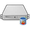 db, firebird, Database, Server Black icon