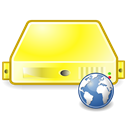 yellow, web, Server Black icon