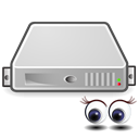 Server, Monitoring Black icon