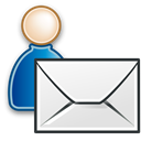 user, send, envelop, Human, Letter, Email, Message, profile, mail, people, Account Black icon