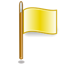 flag, yellow Black icon