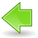Arrow, prev, Left, Back, previous, Backward Black icon