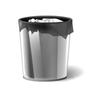 recyclebinfull Black icon