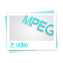 Mpeg, mpg, video Black icon