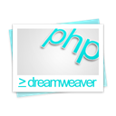 File, dreamweaver, document, paper, Php Black icon