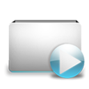foldervideo Black icon
