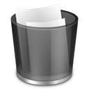 Full, recycle, Bin Black icon