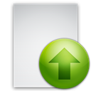 File, increase, Ascend, paper, Up, document, upload, Ascending, rise Gainsboro icon